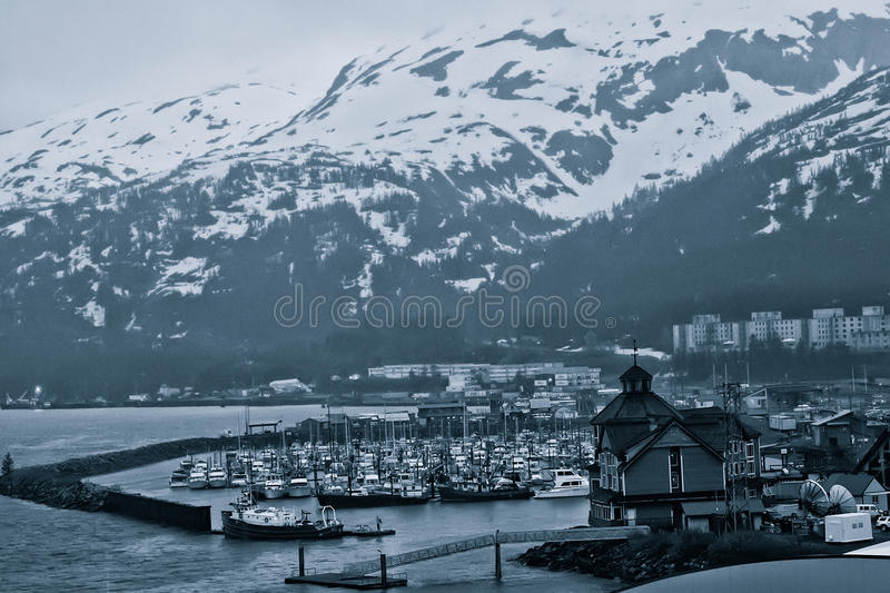 Whittier, Alaska. Little fishing village of Whittier, Alaska royalty free stock images