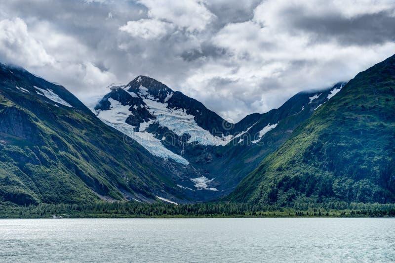 Whittier-Gletscheransicht in die Alaska-Vereinigten Staaten von Amerika stockfotos