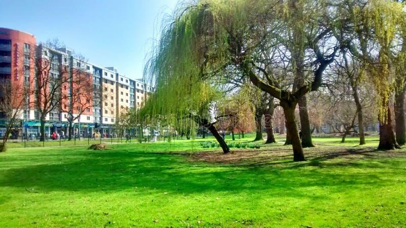 Whitworth-Park in Manchester stockbilder