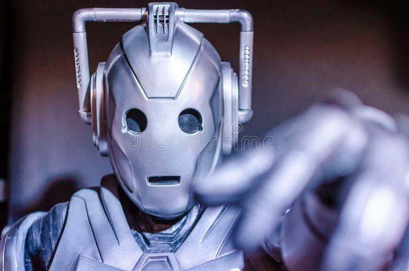 Who Cyberman医生 库存图片