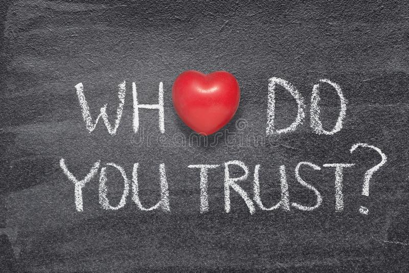 Who do you trust heart stock photo