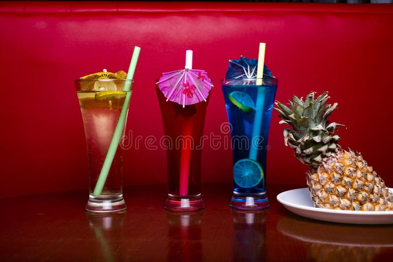 Mocktail in perfect red background with awesome color royalty free stock photos