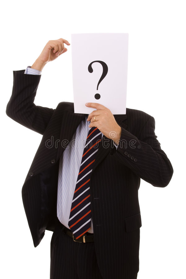 Download Who am i? stock photo. Image of file, mark, foreman, disguise - 7719998