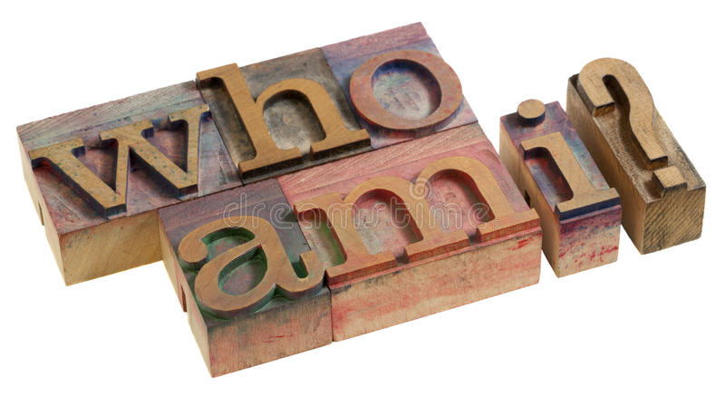 Who am I - question stock photos