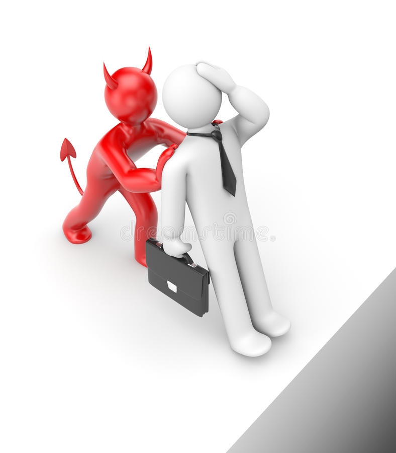 Download Who Pushes You In A Chasm? Business Metaphor Stock Illustration - Image: 11800603