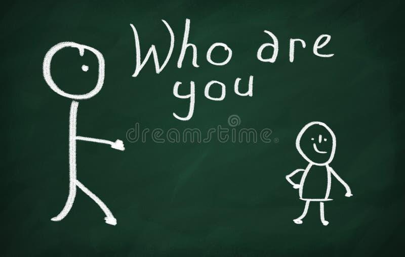 Who is u? vector illustratie