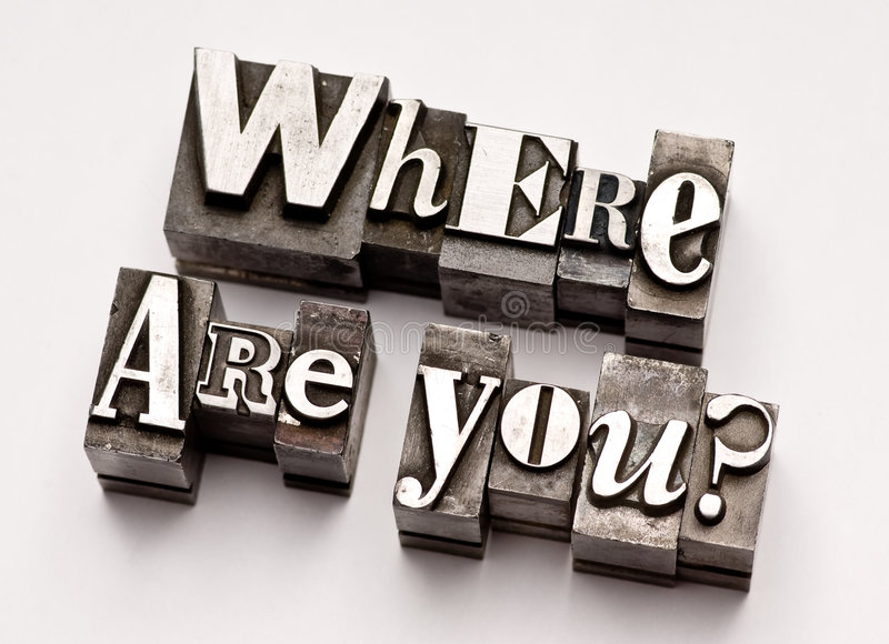 Who are you? stock images