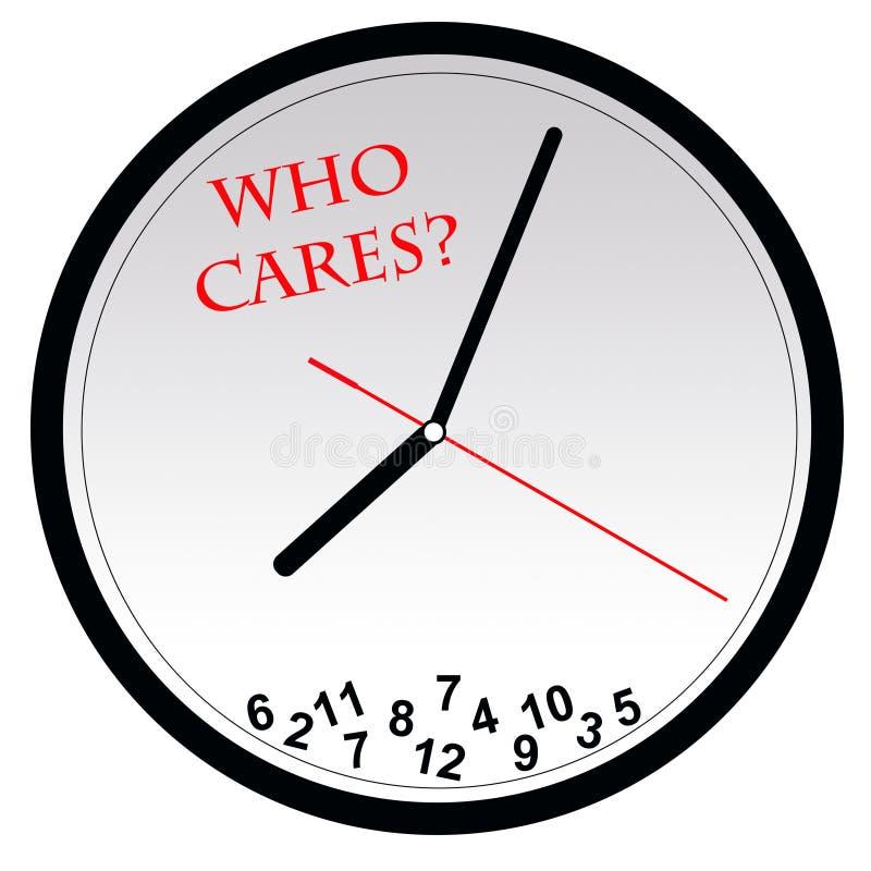 Who zorgen over tijd? royalty-vrije illustratie