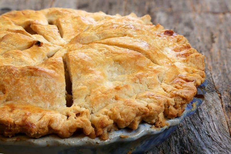 Whole apple pie royalty free stock photo