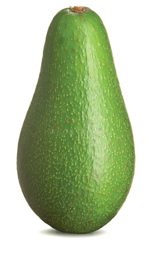 Whole avocado on a white background