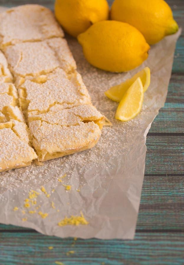 Freshly Baked Lemon Bars. Whole Batch of Freshly Baked Lemon Bars stock photos