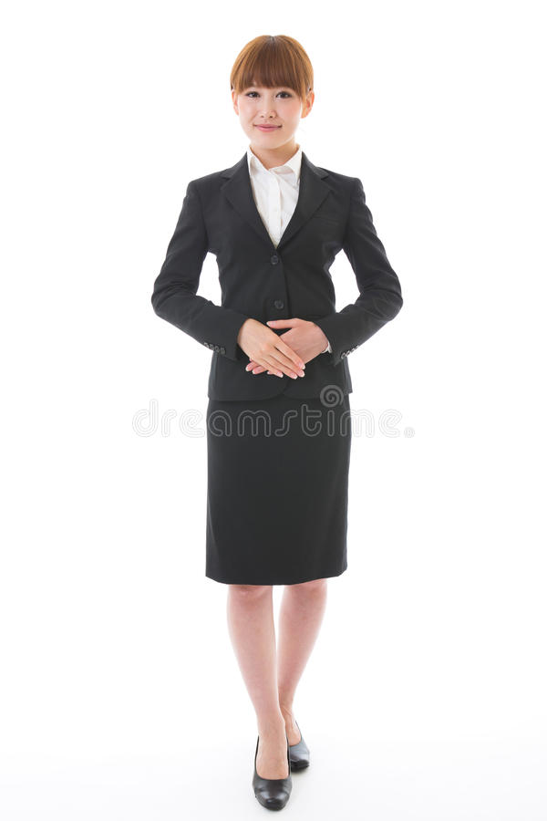 Whole body of a businesswoman. Whole body of a young businesswoman stock photo