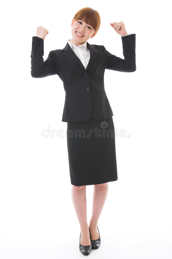 Whole body of a businesswoman. Whole body of a young businesswoman stock image