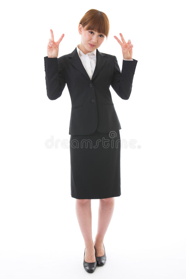 Whole body of a businesswoman. Whole body of a young businesswoman stock photos
