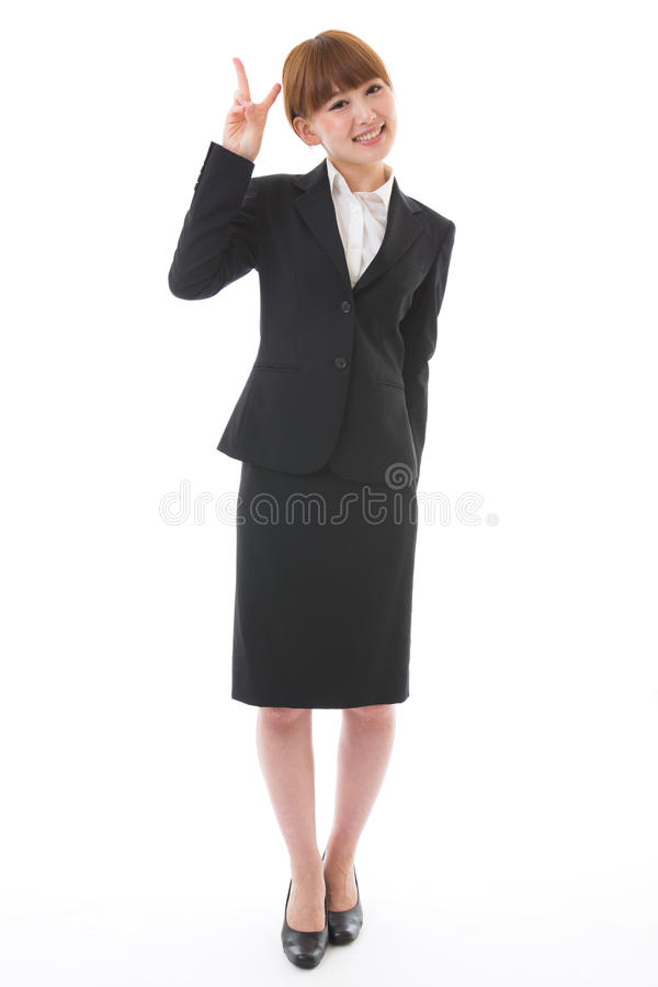 Whole body of a businesswoman. Whole body of a young businesswoman stock images