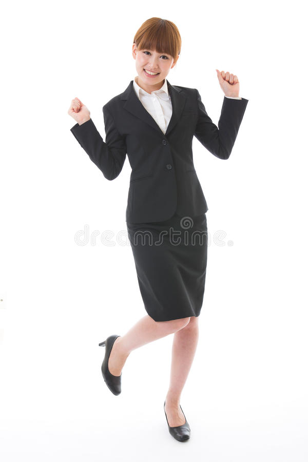 Whole body of a businesswoman. Whole body of a young businesswoman royalty free stock image