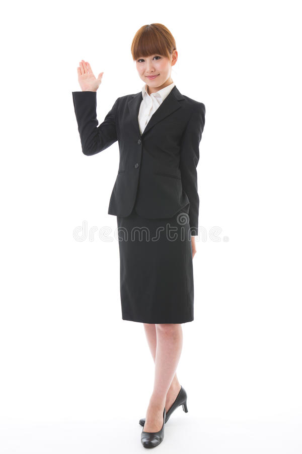 Whole body of a businesswoman. Whole body of a young businesswoman royalty free stock photography