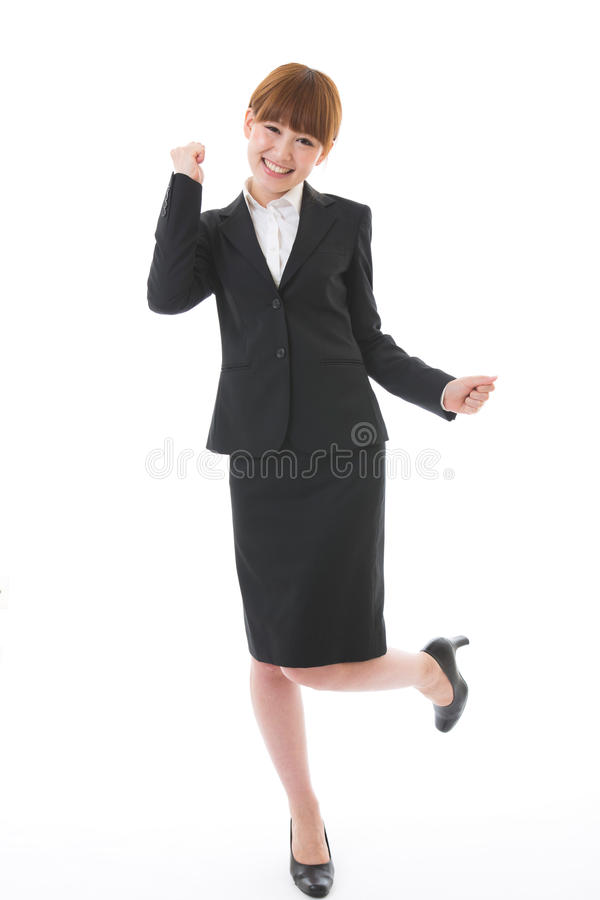 Whole body of a businesswoman. Whole body of a young businesswoman stock photography