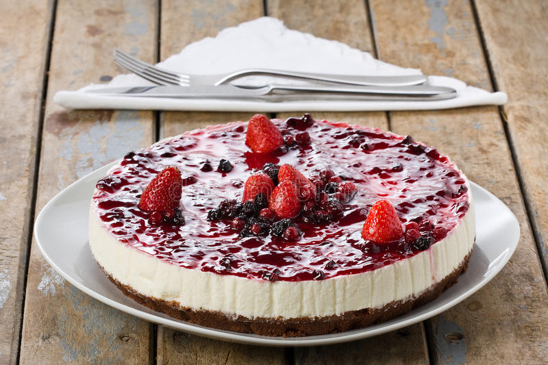 Whole Cheesecake royalty free stock photography