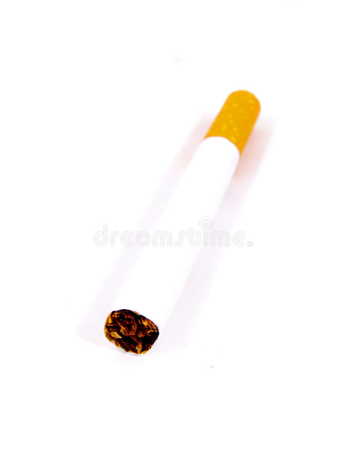 Whole cigarette royalty free stock photography