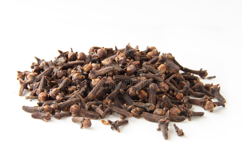 Whole cloves spices in pile royalty free stock image