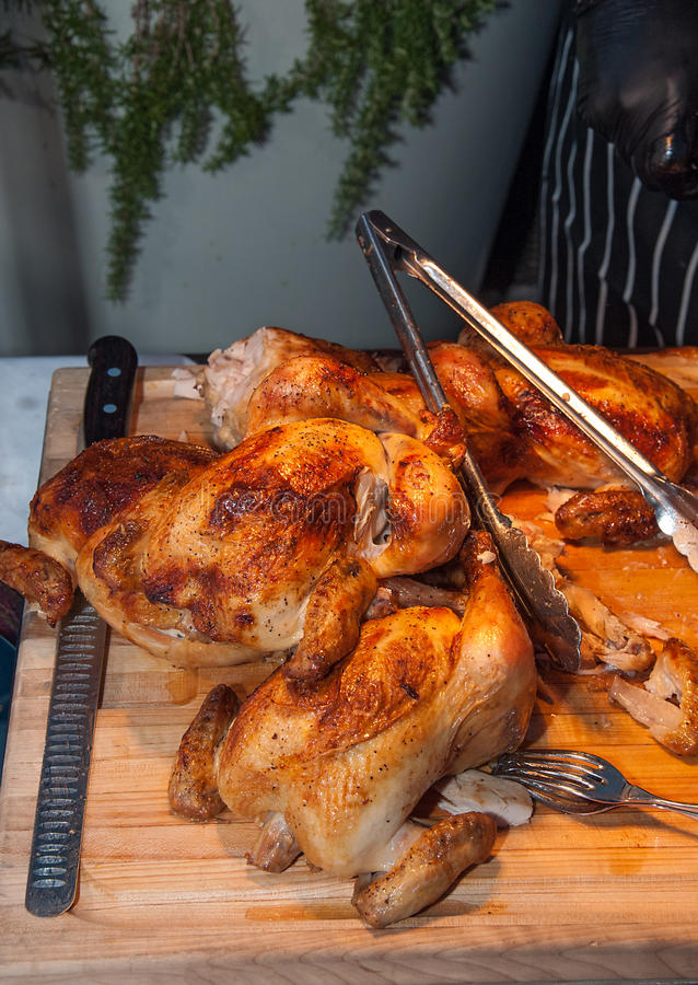 Download Whole Cooked Chickens stock photo. Image of chicken, roasted - 26151216
