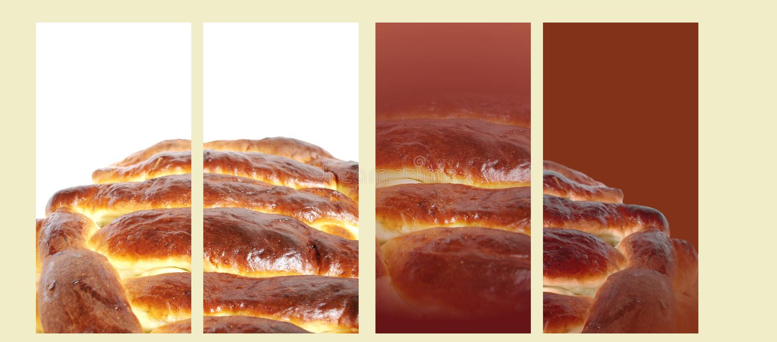 Whole delicious pie banners royalty free stock photography