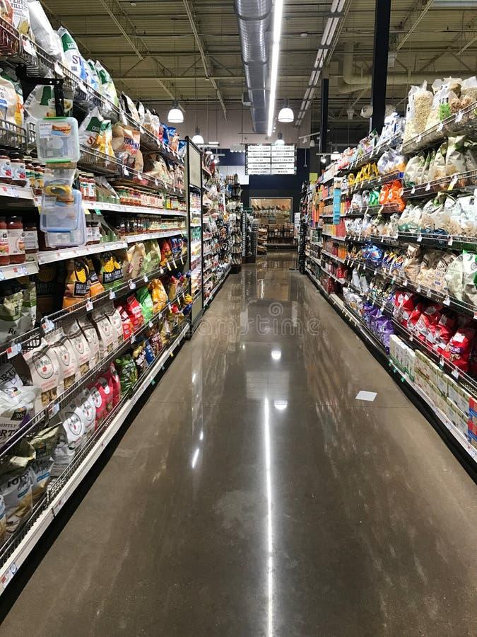 Whole Foods à l'endroit de legs, Dedham, mA images stock