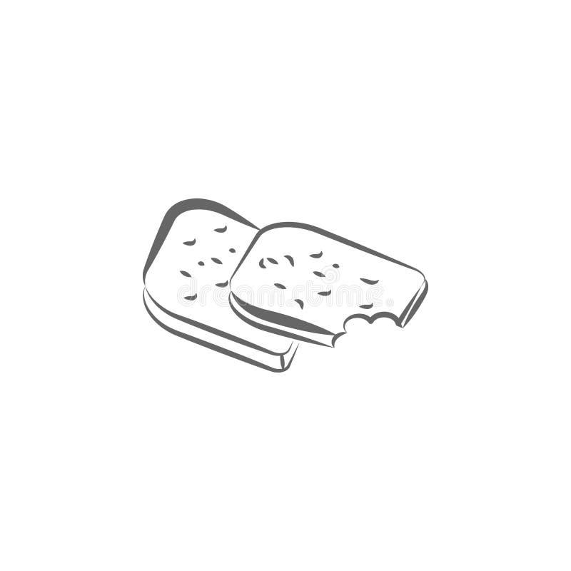 Whole grain, bread hand drawn icon. Element of bread icon. Thin line icon for website design and development, app development. vector illustration