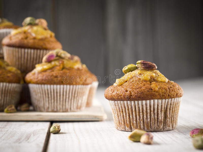 Carrot muffin. royalty free stock image