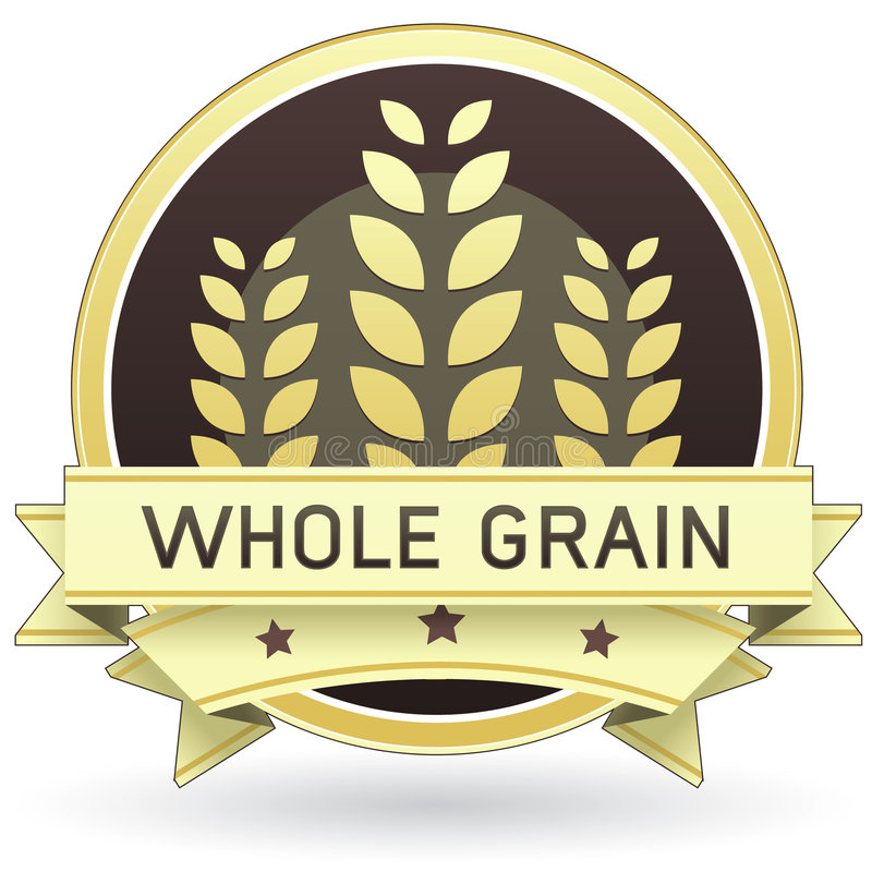 Whole Grain Food Or Product Label Royalty Free Stock Photo