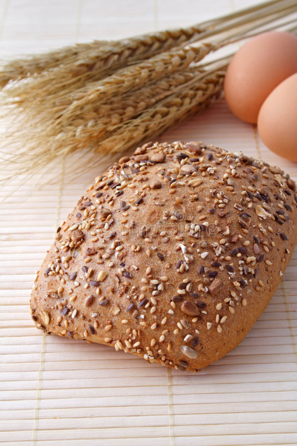 Download Whole-grain roll stock photo. Image of grain, roll, eggs - 7288360