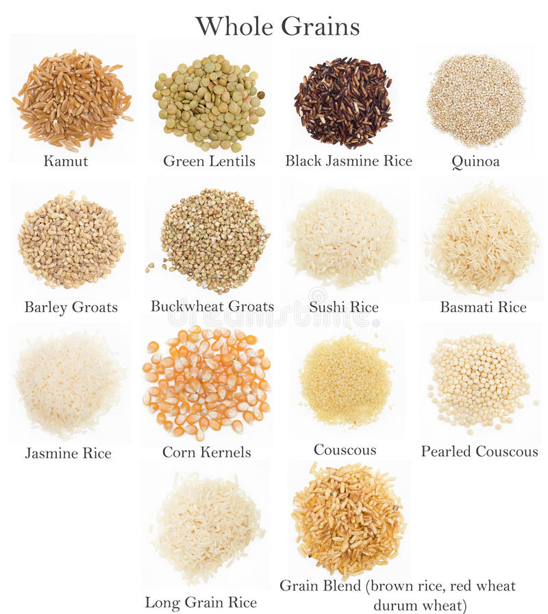 Whole Grains Collection  stock photos