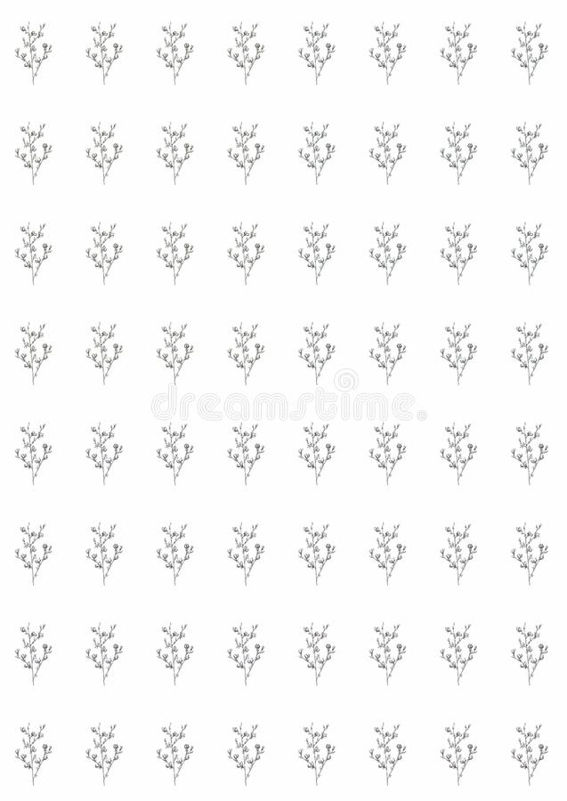 Graphic line art monochrome flowers pattern on a white background, beautiful illustration. fruit vegetarian food stock illustration