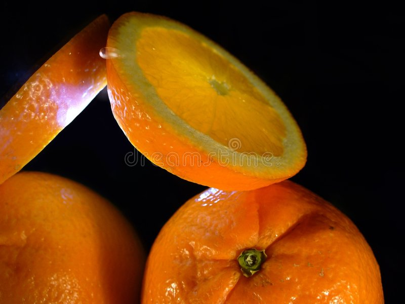 Download Whole and halved orange stock photo. Image of nutritional - 3560066