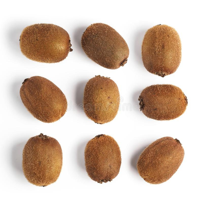 Whole kiwi fruits pattern stock photo