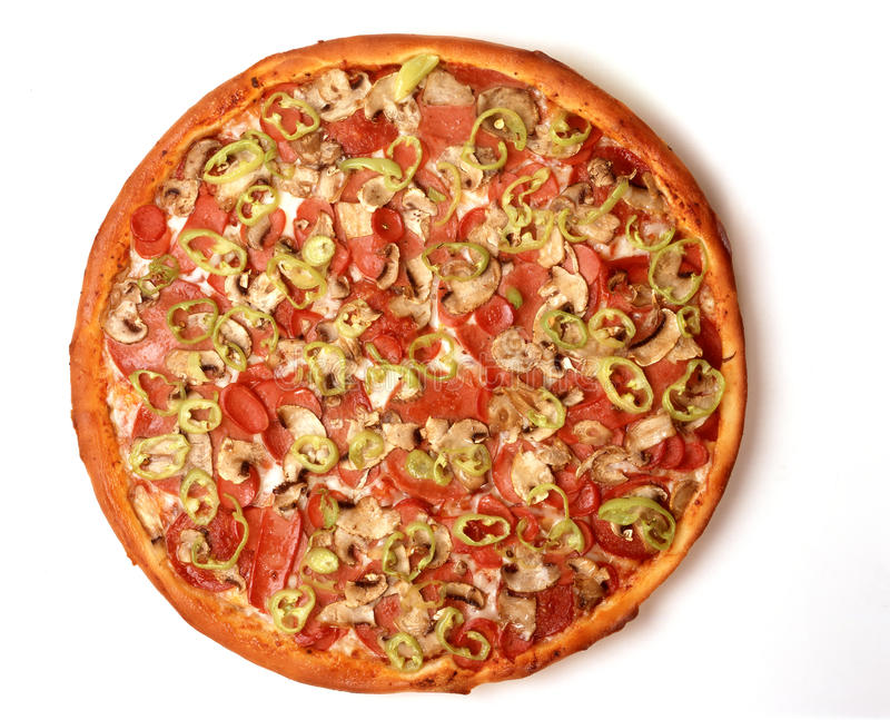 Download Whole Meat Lovers Pizza stock image. Image of background - 19895185