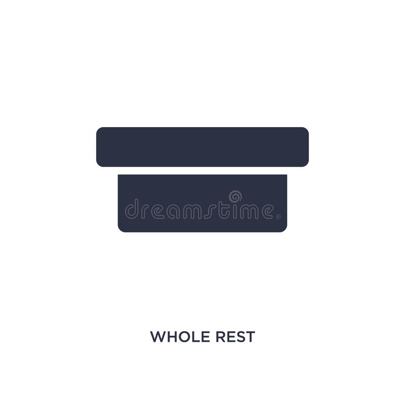whole rest icon on white background. Simple element illustration from music and media concept stock illustration