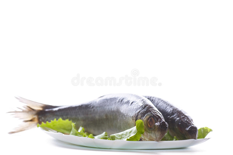 Download Whole Salted Herring With Lettuce Stock Photo - Image: 83705218