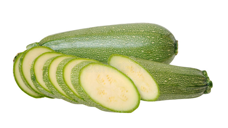 Whole and slice marrow zucchini royalty free stock image