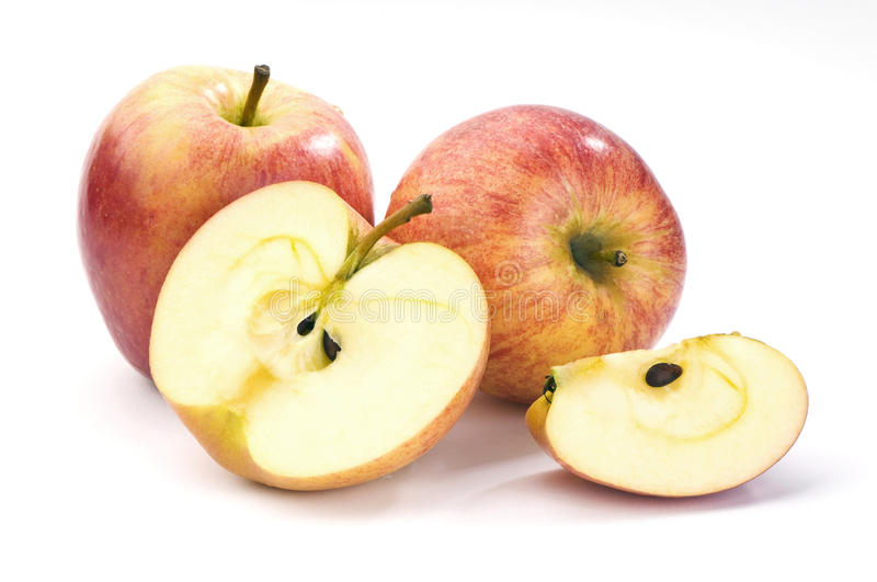 Download Whole And Sliced red Apples Stock Image - Image: 26911091