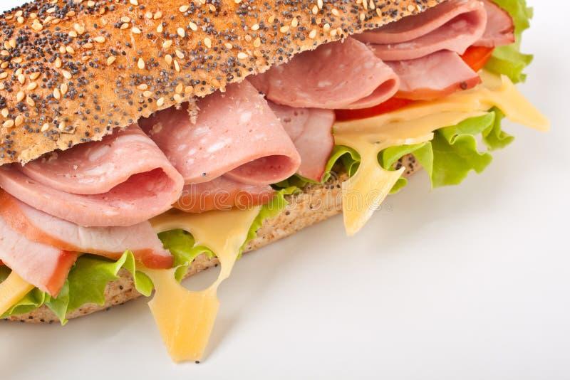Whole wheat baguette sandwich