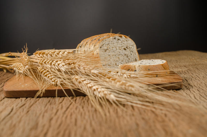 whole wheat bread with black sesame and barley grain royalty free stock photos
