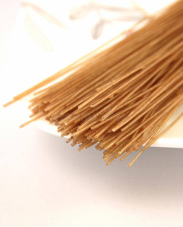 Whole Wheat Oriental Noodles royalty free stock photos