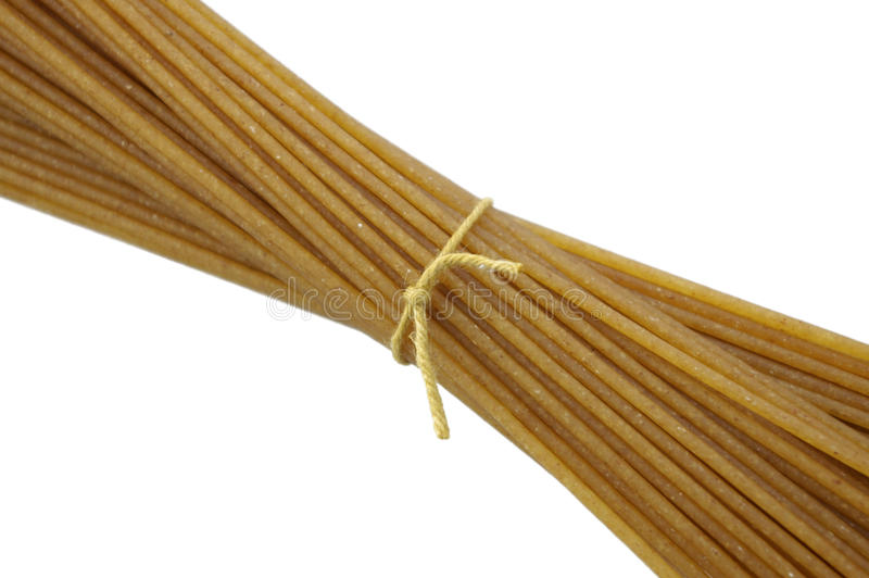 Whole Wheat Spaghetti royalty free stock image