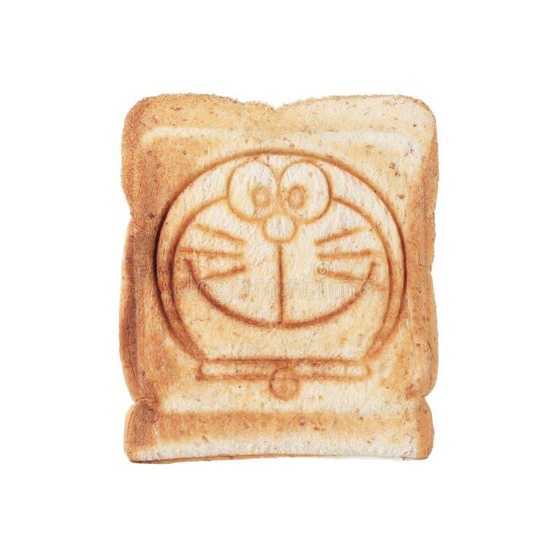 whole wheat toast isolated on white royalty free stock photography