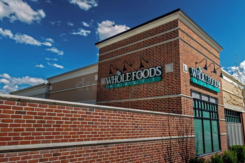 Wholefoods opslag royalty-vrije stock afbeeldingen