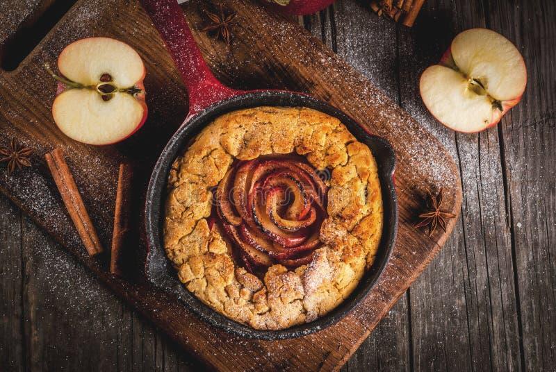 Download Wholegrain Apple Galette Pie Stock Photo - Image: 102103826