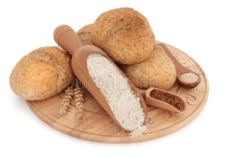 Download Wholegrain Bread  Rolls stock photo. Image of sugar, bread - 18825306