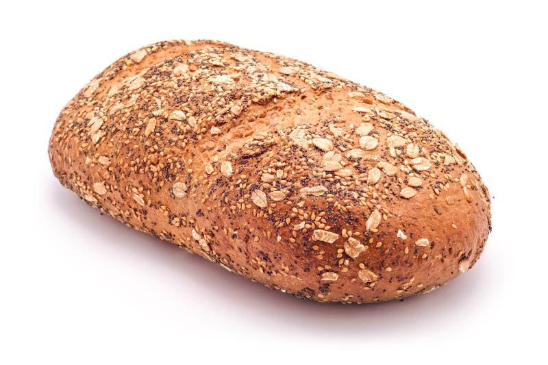 Wholegrain broodbrood met gemengde zaden stock foto